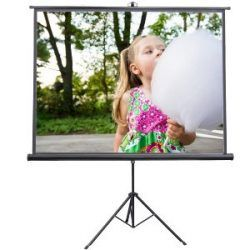84 x 84 Portable Tripod Projector Screen