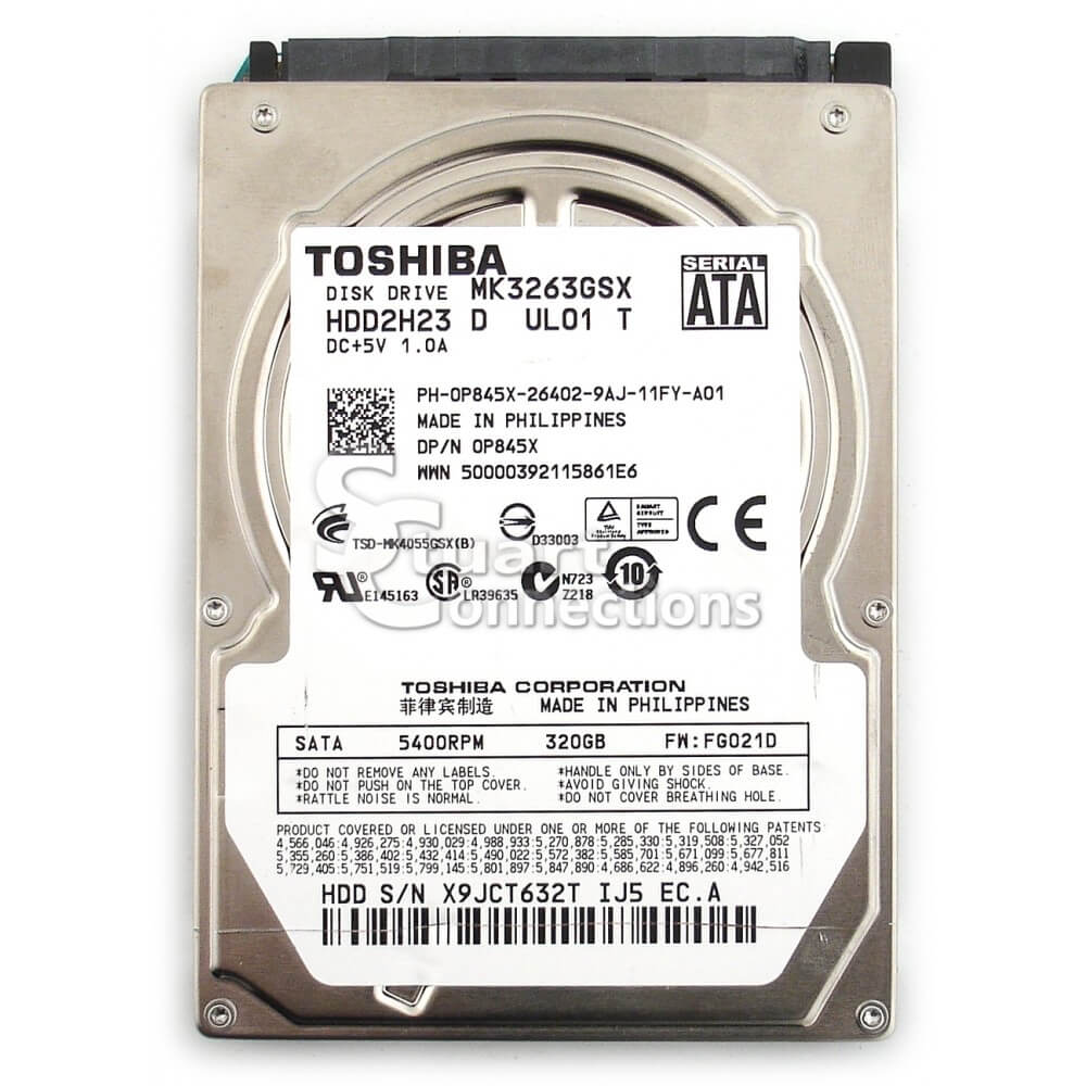 Toshiba 320GB Laptop Hard Drive