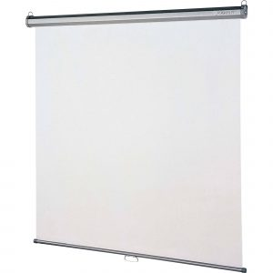 "Manual 96'' x 96"" Projection Screen"