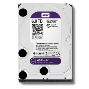 WD Purple 6TB Surveillance Hard Disk Drive 5400rpm SATA 6Gb/s 3.5""