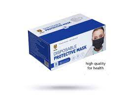 3 Ply Black Disposable Black Masks